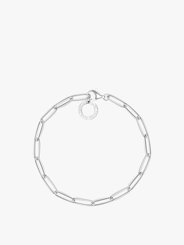 Link Chain Circle Drop Bracelet