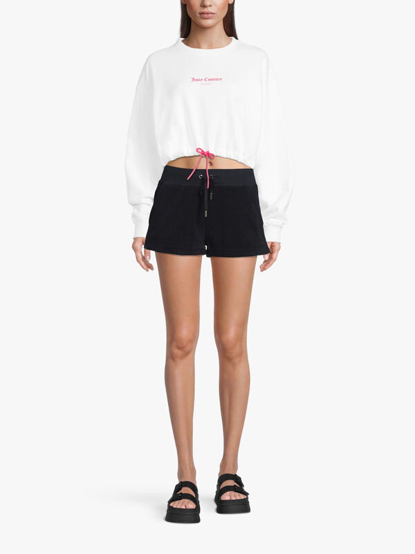 Eve Terry Shorts with Drawstring