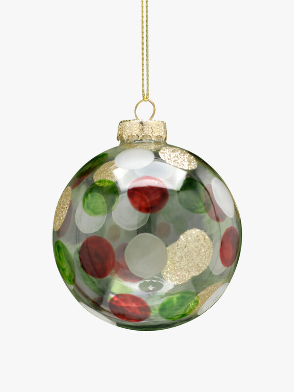 Glittery Dots Christmas Bauble