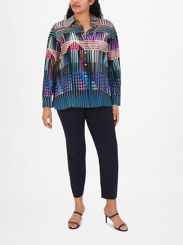 Balzac Printed Silk Shirt