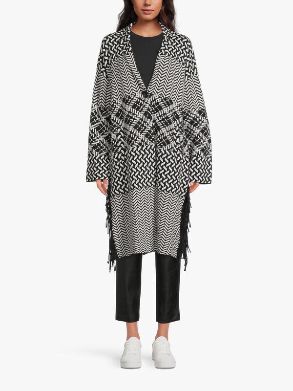 Pattern Mix Long Cardigan