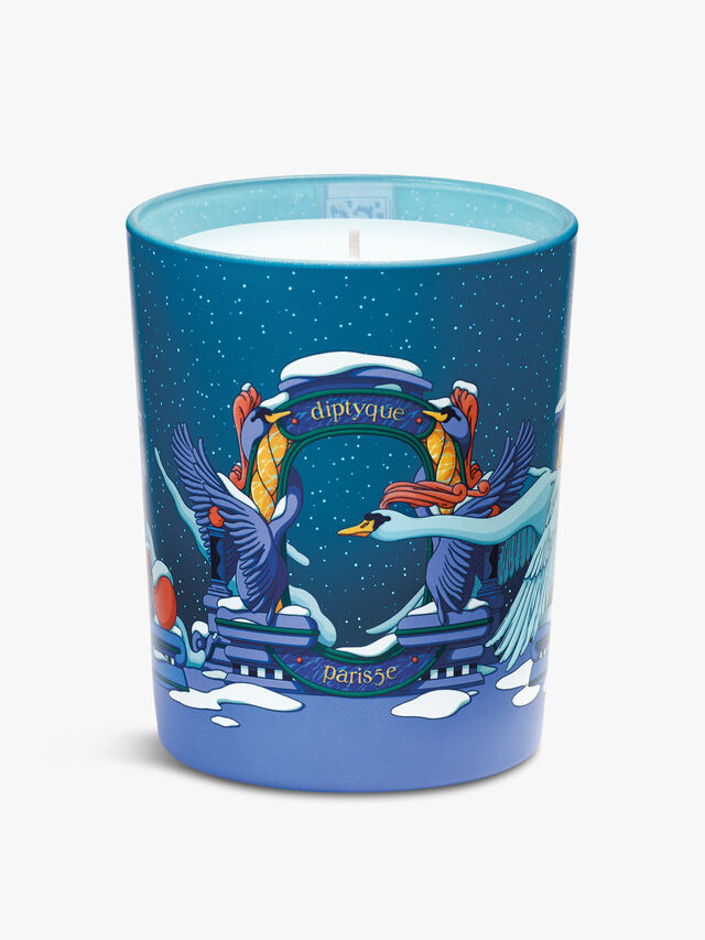 Candle And Lid Ambre Plume 190g
