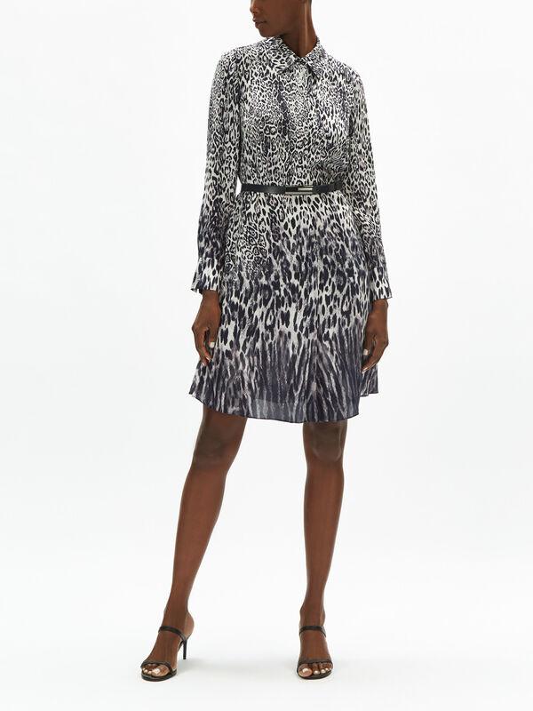 Aisha Leopard Belt Dress