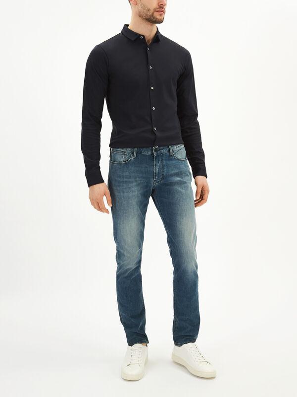 Slim Fit Straight Jeans