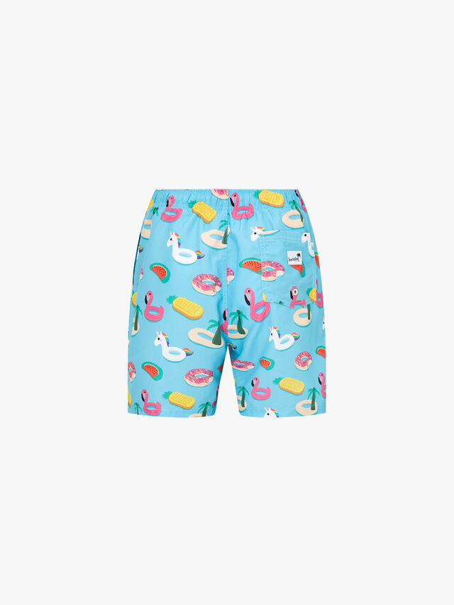 Inflatables Mid Length Swim Shorts