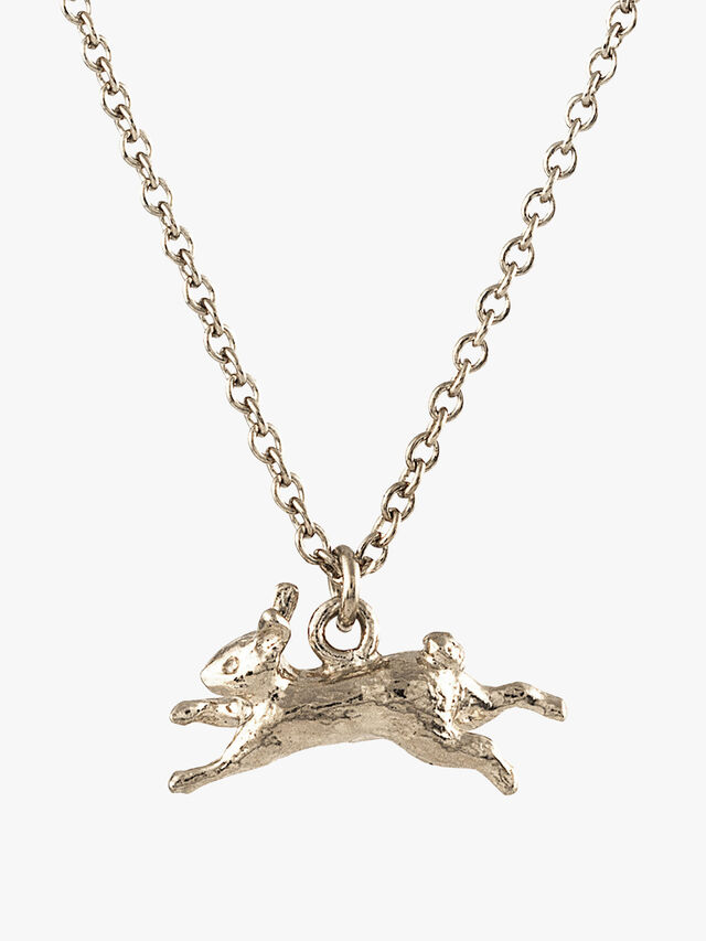 Leaping Rabbit Necklace
