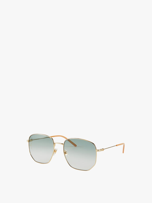 Square Metal Frame with Gradient Lens