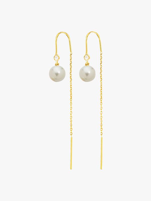Pearl Thread Earrings