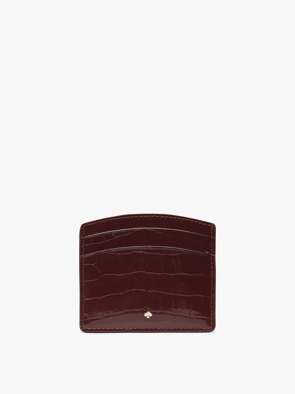 Sylvia Croc Embossed Card Holder