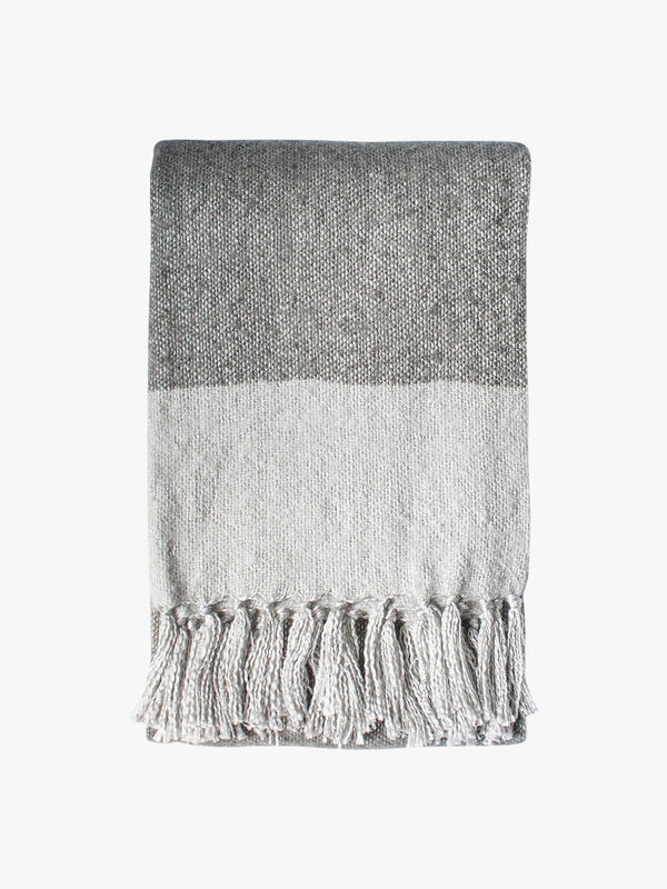 Tonal Faux Mohair Throw