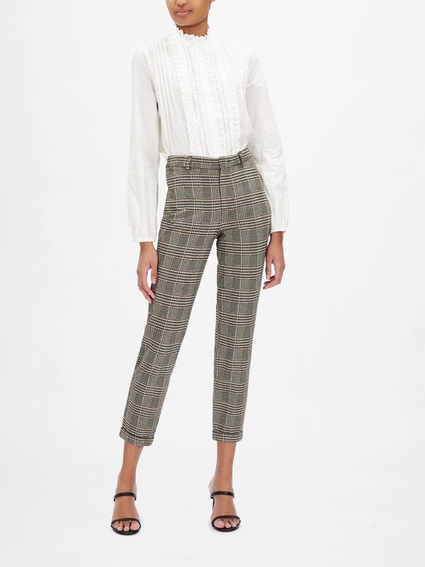 Cuffed Check Trouser