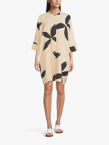 Losetta-Block-Flower-Print-Midi-Shirt-Dress-w-Mandarin-Collar-1002364