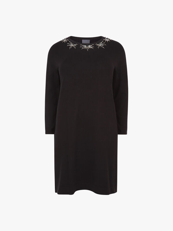 Gallia Detailed Knitted Dress