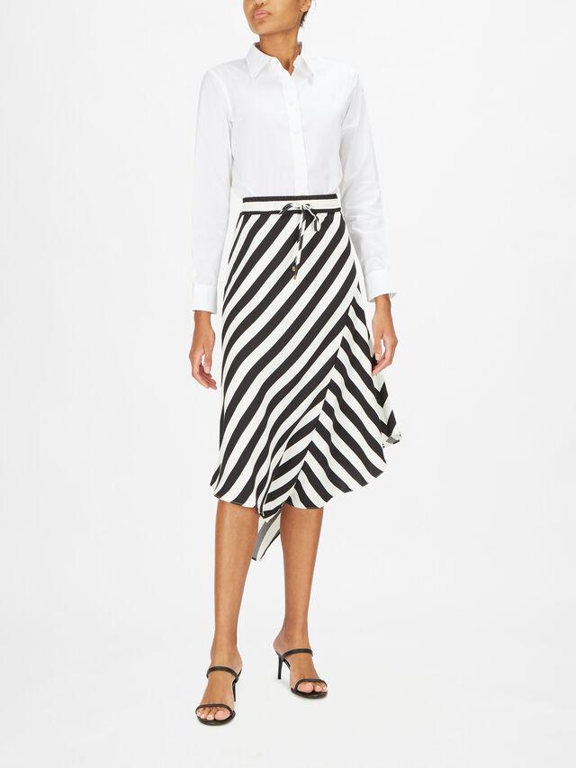 Hanif Capri Vertical Stripe Midi Skirt