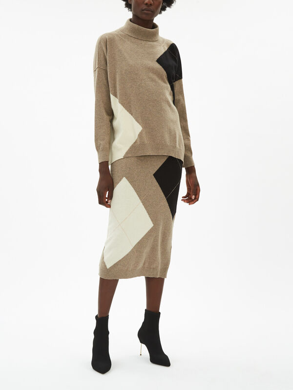 Oversized Roll Neck Jumper