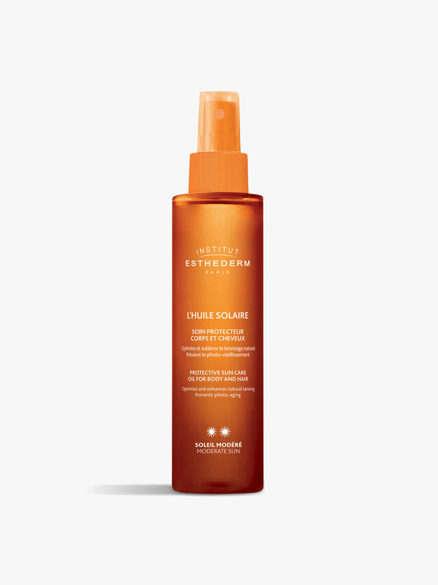 Suncare Oil Moderate SunSuncare Protective Tanning Oil Hair and Body - Moderate