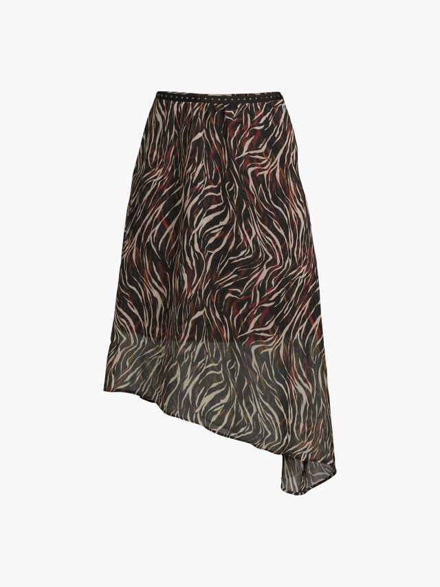 Parisian Rock Lurex Printed Asymmetrical Skirt