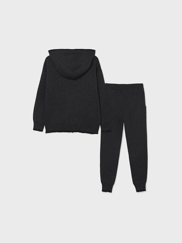 Long knit lyrex trousers set