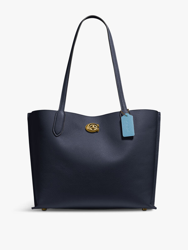 Colorblock Leather Willow Tote