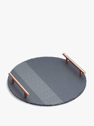 Etched Round Serving Platter
