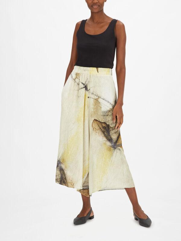 Printed Wide Leg Tencel Culotte