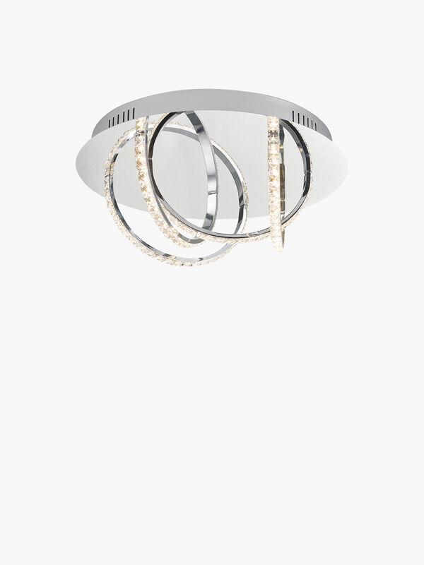 Zancara 4 Light Flush & Crystal LED