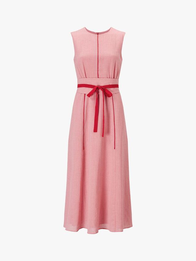 Sleeveless Maxi Dress With Wide Belt