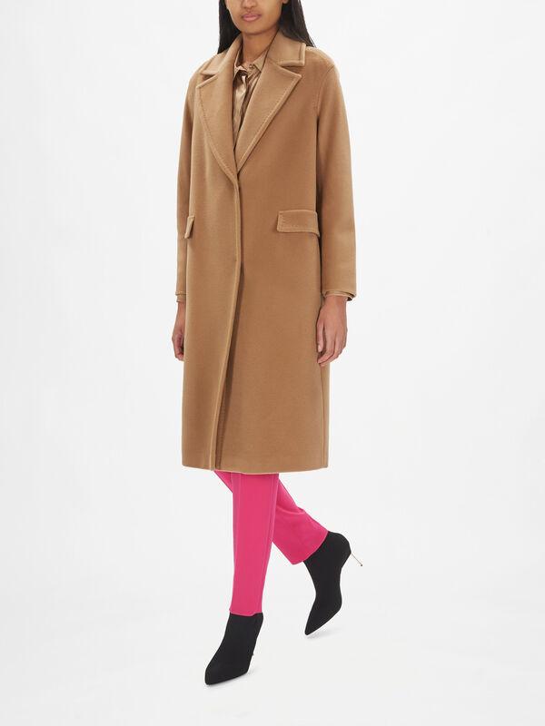 Bairo V Neck Double Breast Wool Coat