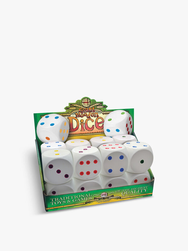 Giant Wooden Dice (Single Pack)