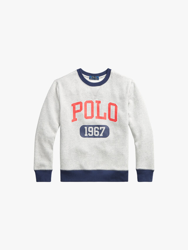 Crew Neck Polo Logo Sweatshirt