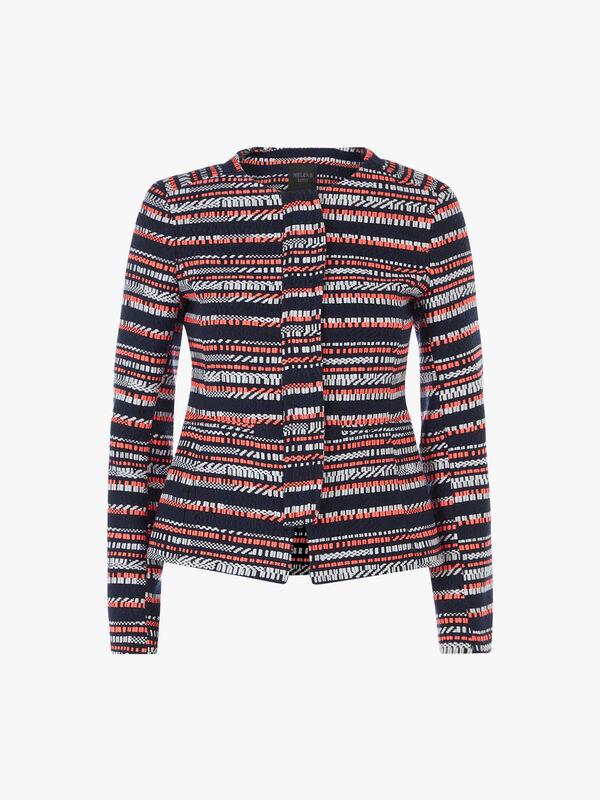 Judy Striped Concealed Zip Jacket