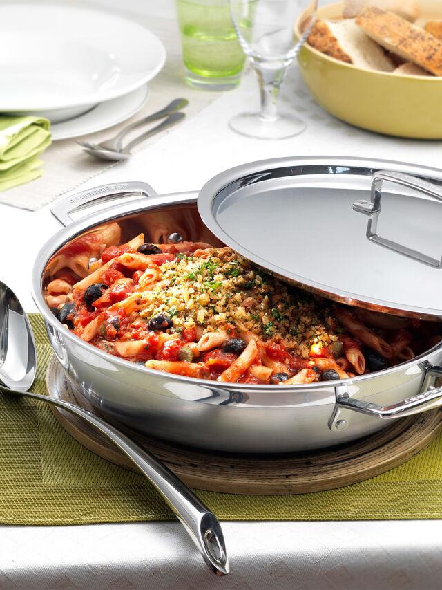 Stainless Steel Shallow Casserole Dish 30cm