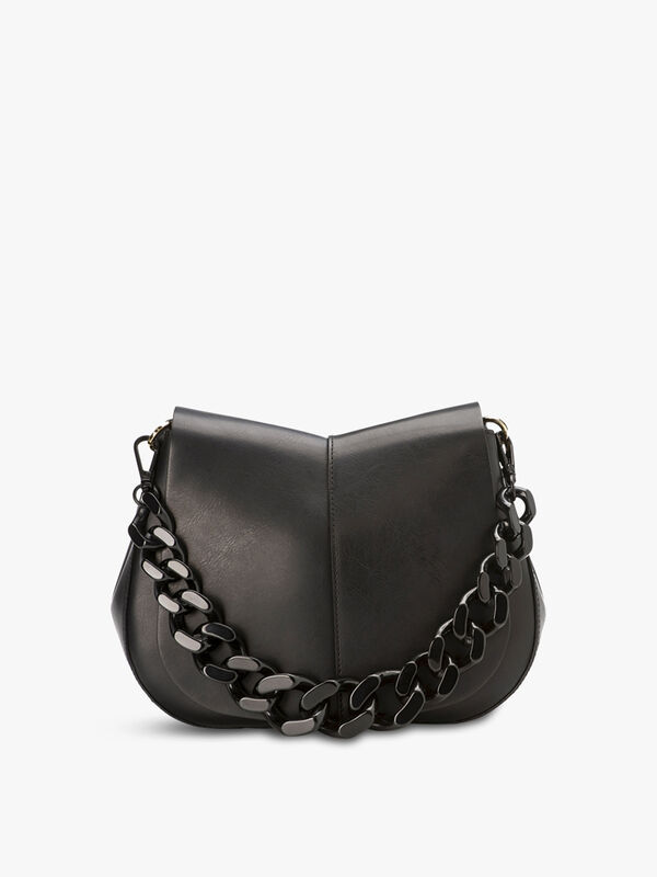 Helena Round Flap Chain Crossbody
