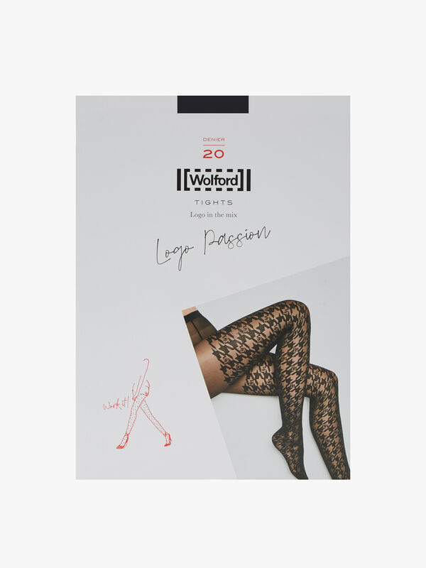 Logo Passion Houndstooth Logo Effect Tights