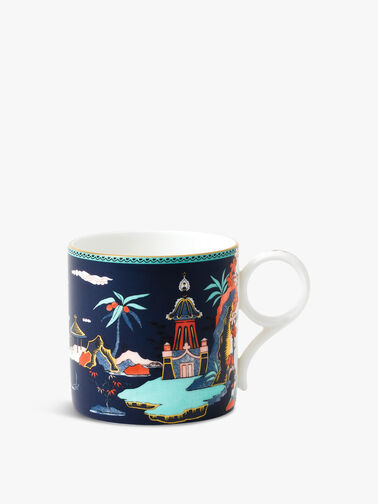 Wonderlust Blue Pagoda Mug Large
