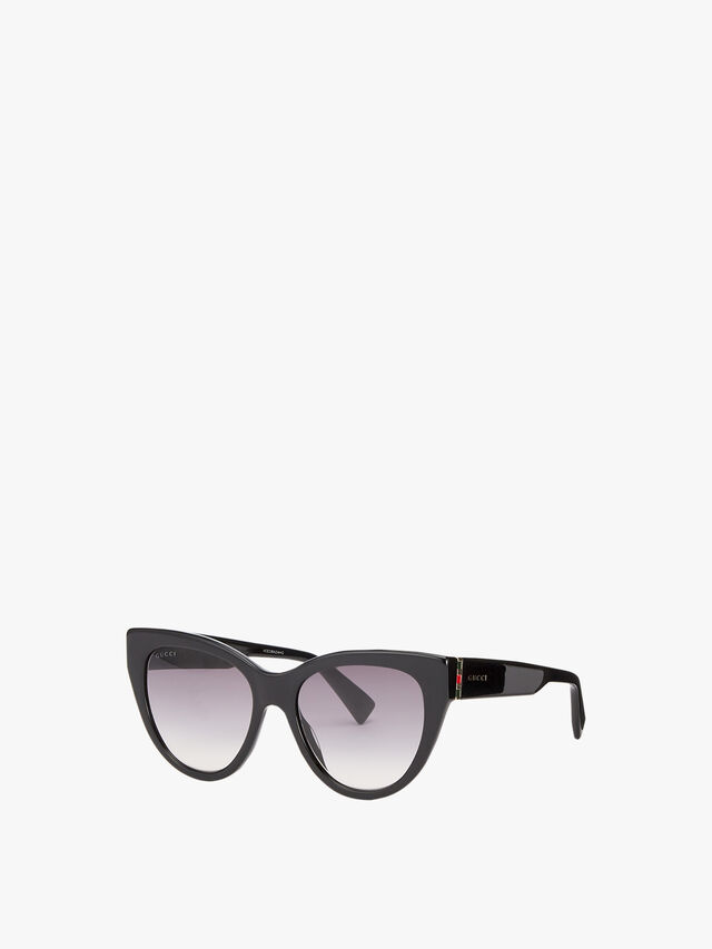 Stripe Hinge Cat-Eye Sunglasses