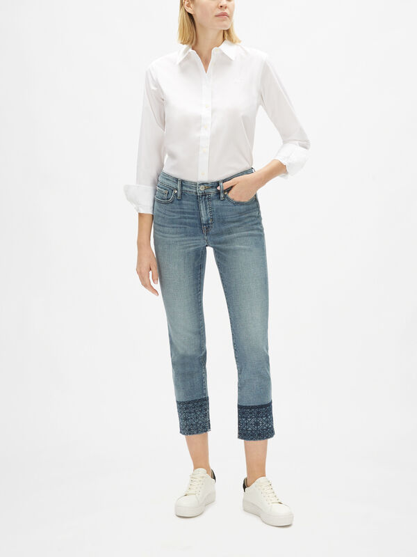 Straight Leg 5 Pocket Ankle Length Jean