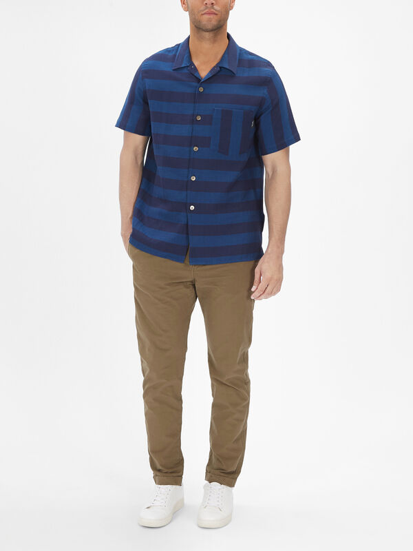 Short Sleeve Stripe Pocket Shirt