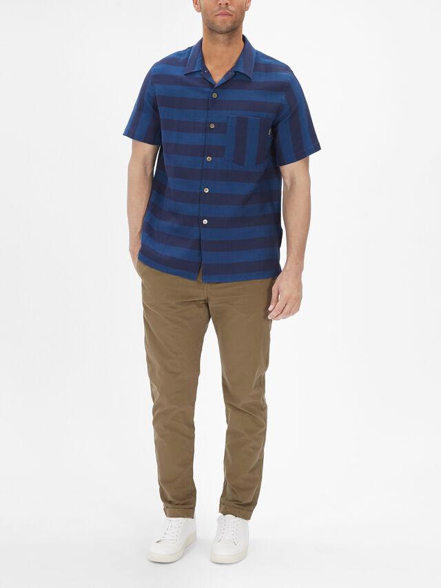 Short Sleeve Stripe Pocket Shirt
