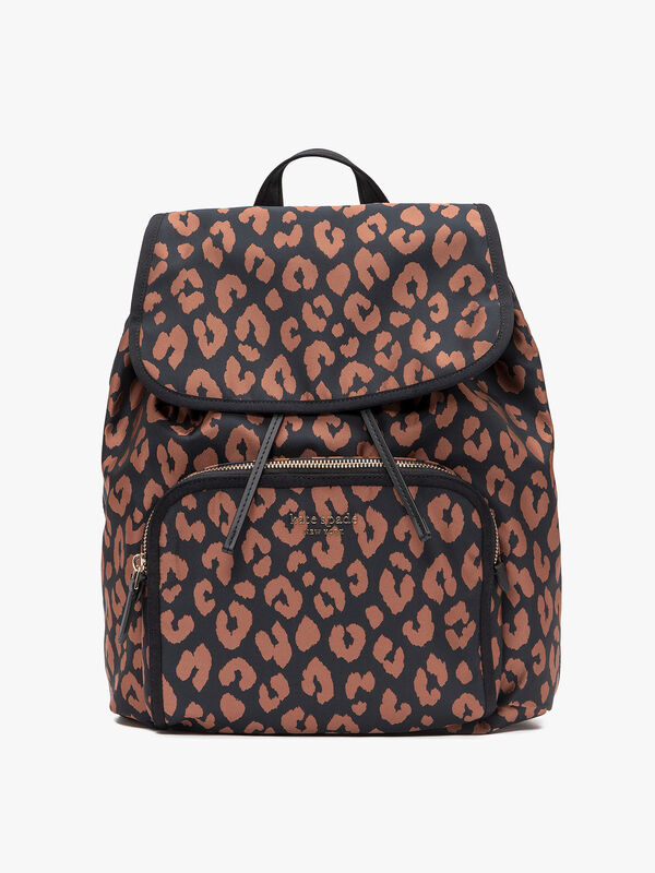 Sam Leopard Medium Backpack