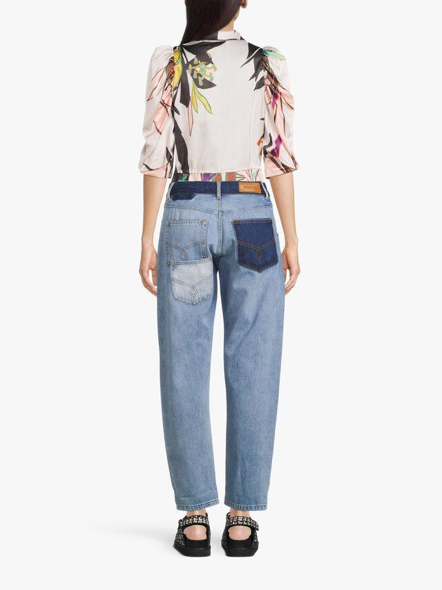 Reeta Contrast Waistband Jeans
