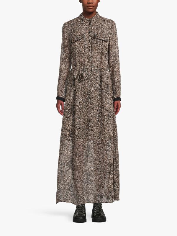Nordic Escape Pocket Printed Midi Dress