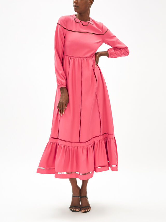 Mesh Detail Maxi Dress