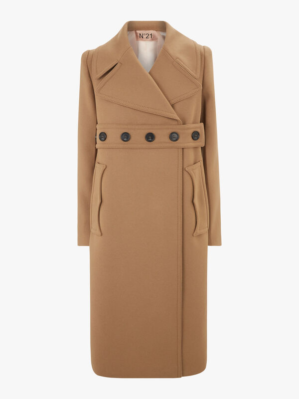 Button Belt Coat