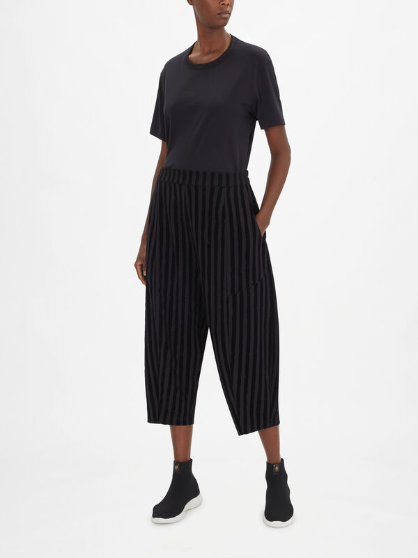 Striped Balloon Trousers
