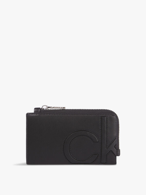 CK Embedded Cardholder With Zip
