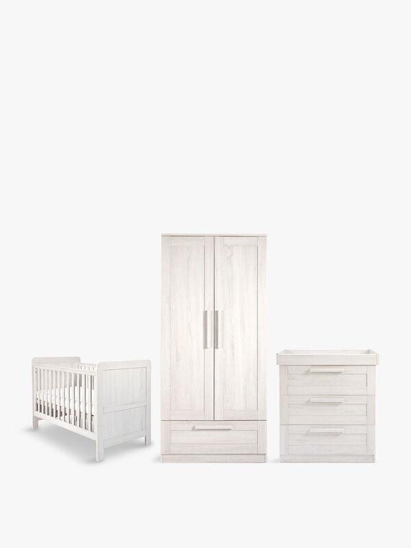 Atlas Cotbed, Dresser and Wardrobe