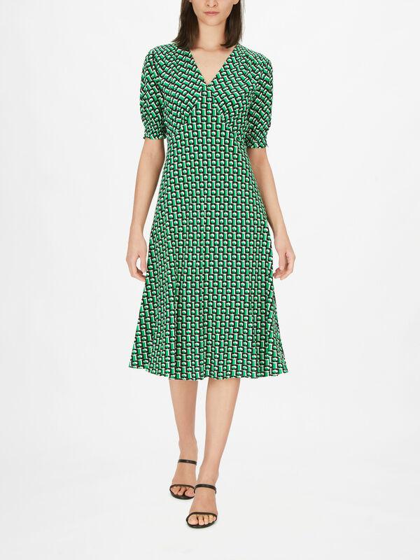 Jemma Short Sleeve Corset Style Midi Dress