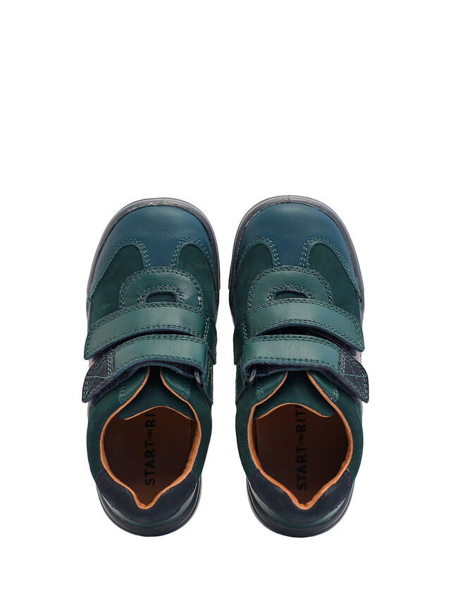 Seesaw Dark Green Leather Pre School Shoes