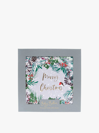 Merry Christmas Wreath Luxury Cards Pack of 8